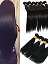 6 paket Brasilianskt hår Rak Obehandlad hår Human Hår vävar bunt hår En Pack Lösning 8-28 tum Naurlig färg Hårförlängning av äkta hår Liv Mjuk Tjock Människohår förlängningar