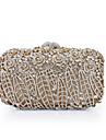Dam Kristalldetaljer / Ihålig Legering Aftonväska Rhinestone Crystal Evening Bags Blommig / Botanisk Svart / Rödsvart / Himmelsblå / Höst vinter
