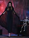 häxa Klänningar Cosplay Kostymer / Dräkter Vuxna Dam Cosplay Halloween Halloween Karnival Maskerad Festival / högtid Polyster Svart Dam Karnival Kostymer Enfärgad