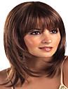 Syntetiska peruker Lugg Lockigt Gratis del Peruk Mellan Brun / Bourgogne Syntetiskt hår 22 tum Dam Moderiktig design Dam syntetisk Brun