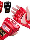 Boxningssäckhandskar Proffsboxningshandskar Träningshandskar till boxning För Taekwondo Kampsport MMA Brottning Fingerlösa Skyddande PU Herr Dam - Svart Röd