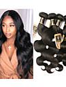 6 paket Brasilianskt hår Kroppsvågor 100% Remy Hair Weave Bundles Human Hår vävar bunt hår En Pack Lösning 8-28 tum Naurlig färg Hårförlängning av äkta hår Luktfri Tjock Till färgade kvinnor