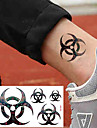 10 pcs tillfälliga tatueringar Vattenavvisande / Bästa kvalitet händer / brachium / skuldra Tatueringsklistermärken