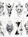 8 pcs tillfälliga tatueringar Vattenavvisande / Bästa kvalitet Ansikte / händer / brachium Tatueringsklistermärken