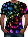 Men\'s Daily T-shirt - 3D Print Round Neck Black / Short Sleeve