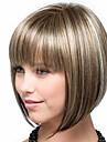 Syntetiska peruker Lugg Kinky Rakt Bob-frisyr Gratis del Peruk Guld Korta Ljusguldig Syntetiskt hår 14 tum Dam Moderiktig design Len Dam Guld