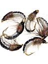 6 pcs Flugor Fiskbete Flugor maskar Fjädrar Kolstål Blandat Material Sjunker Sjöfiske Flugfiske Kastfiske