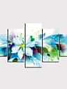 プリント キャンバス地プリント - 抽象画 花柄 / 植物の クラシック 近代の 5枚 アートプリント