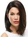 Syntetiska peruker Kinky Rakt Sidodel Peruk Mellan Brun / Bourgogne Syntetiskt hår 22 tum Dam Moderiktig design Len Klassisk Brun
