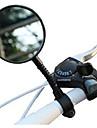 Backspegel Spegel till cykelstyre justerbar Flexibel Okrossbar Lampa på baksidan med brett reflektorfält Cykelsport motorcykel Cykel Plastik Resin Svart Racercykel Mountain Bike