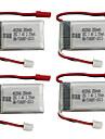 MJX X401H X403 7.4V 350mAh 4pcs batteri