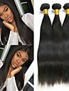 3 paket Brasilianskt hår Rak Obehandlad hår Human Hår vävar bunt hår En Pack Lösning 8-28 tum Naurlig färg Hårförlängning av äkta hår Len Bästa kvalitet Vackert Människohår förlängningar