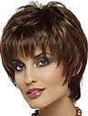 Syntetiska peruker Lugg Lockigt Gratis del Peruk Korta Brun / Bourgogne Syntetiskt hår 12 tum Dam Moderiktig design Dam syntetisk Brun