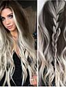 Syntetiska peruker Kinky Rakt Middle Part Peruk Blond Lång Ljusguldig Syntetiskt hår 26 tum Dam Färggradient Blond