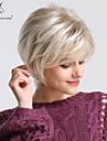 Syntetiska peruker Rak Naturlig Straight Pixie-frisyr Med lugg Peruk Blond Korta Ljusguldig Syntetiskt hår 24 tum Dam Luktfri Moderiktig design syntetisk Blond BLONDE UNICORN / Naturlig hårlinje