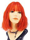 Syntetiska peruker Lockigt Middle Part Peruk Mellan Orange Syntetiskt hår 12 tum Dam Ung Röd Ros rosa