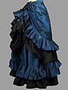 Prinsessa Rokoko Victoriansk Kjolar Festklädsel Kostym Dam Cotton Kostym Bläck blå Vintage Cosplay Maskerad Fest / afton Golvlång Lång längd Plusstorlekar