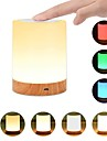1pc USB 5V Night Light Touch Lamp for Bedrooms Living Room Portable Table Bedside Lamps with Rechargeable Internal Battery Dimmable 2800K-3100K Warm White Light Color Changing RGB