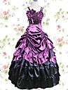 Vintage Prinsess Lolita Elegant Cosplay Kostymer / Dräkter jsk / Jumper Kjol Dam Japanska Cosplay-kostymer Grå / Purpur / Mörkgrön Lappverk Ärmlös Maxi Lång längd