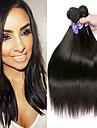 4 paket Peruanskt hår Rak Obehandlat Mänsligt hår 100% Remy Hair Weave Bundles Human Hår vävar bunt hår Hårförlängningar av äkta hår 8-28 tum Naturlig Hårförlängning av äkta hår Luktfri Säkerhet