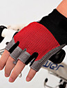 Cykelhandskar Cykelhandskar för mountainbike Bergscykling Vadderad Anti-halk Stötsäker Skyddande Fingerlösa Halvt finger Aktivitet/Sport Handskar Lycra Silikongel Svart Svart / röd Svart / Blå för