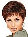 Syntetiska peruker Lugg Lockigt Gratis del Peruk Korta Brun / Bourgogne Syntetiskt hår 12 tum Dam Moderiktig design Dam syntetisk Brun / Till färgade kvinnor
