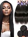 6 paket Brasilianskt hår Rak Obehandlat Mänsligt hår 100% Remy Hair Weave Bundles Human Hår vävar bunt hår Hårförlängningar av äkta hår 8-28 tum Naurlig färg Hårförlängning av äkta hår Luktfri