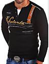 Per uomo maglietta Camicia Alfabetico Top A V Blu Bianco