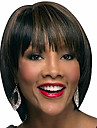 Syntetiska peruker Lugg Afro Naturlig Straight Gratis del Peruk Korta Brun / Bourgogne Syntetiskt hår 12 tum Dam Len Dam syntetisk Brun / Ombre-hår / Till färgade kvinnor