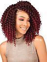 Hår till flätning Lockigt Förlängare twist Flätor Krulliga afroflätor Syntetiskt hår 3 delar Hårflätor Ljusbrunt Naurlig färg 8 Inch syntetisk Bästa kvalitet Virkade flätor med mänskligt hår