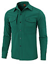 Esdy Herr Vandringsskjorta Långärmad Utomhus Håller värmen Svettavvisande Multi Pocket Skjorta Höst Vår Terylen Grön Blå Grå Klättring