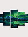プリント キャンバス地プリント - 抽象画 風景 クラシック 近代の 5枚 アートプリント