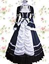 Vintage Prinsess Lolita Elegant Klänningar Cosplay Kostymer / Dräkter Dam Japanska Cosplay-kostymer Röd / Blå / Rosa Lappverk Kronblad Långärmad Maxi Lång längd