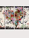 プリント キャンバス地プリント - 風景 ラブ&ハート クラシック 近代の 4枚 アートプリント