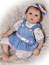 Reborn-dockor Babypojkar Babyflickor 22 tum Full Body Silicone Silikon - Barn Förtjusande Vackert Unge Unisex Leksaker Present