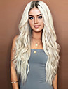Syntetiska peruker Vågigt Asymmetrisk frisyr Peruk Guld Korta Ljusguldig Syntetiskt hår 26 tum Dam Party Guld