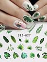 29 pcs Vattenöverföringsklistermärke Blomserier / Flamingo nagel konst manikyr Pedikyr Speciell design / Universell Stilig / Tropisk Dagligen
