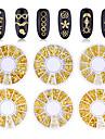 200 pcs Slapp form Metallisk Paljetter Till Fingernageö Kors Päron nagel konst manikyr Pedikyr Dagligen Stilig / Geometrisk