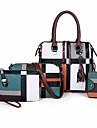 Dam Mönster / tryck / Dragkedja Polyester / PU bag set Väskor Geometriska mönster 4 st handväska Svart / Brun / Blå / Höst vinter