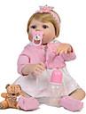 Reborn-dockor Babyflickor 22 tum Silikon - Gåva Barn Vackert Unge Unisex Leksaker Present