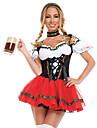 Oktoberfest Dirndl Trachtenkleider Dam Klänning Bavarian Kostym Svart