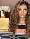 Syntetiska peruker Kinky Rakt Middle Part Peruk Lång Blekt Blont Syntetiskt hår 26 tum Dam Dam Mörkbrun