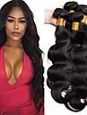 4 paket Brasilianskt hår Kroppsvågor 100% Remy Hair Weave Bundles Human Hår vävar bunt hår Hårförlängningar av äkta hår 8-28 tum Naurlig färg Hårförlängning av äkta hår Luktfri Dans Tjock Människohår