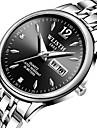 Men\'s Dress Watch Quartz Luxury Casual Watch Analog Black Silver Dark Blue / One Year / Stainless Steel