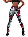 Dam Yoga byxor Mode Elastan Löpning Fitness Gym träning Cykling Tights Leggings Underdelar Sportkläder Fuktabsorberande Butt Lift Magkontroll Sportflex Hög Elasisitet Skinny / Kamouflage