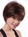 Mänskligt hår Peruk Korta Naturlig Straight Pixie-frisyr Brun Bästa kvalitet Ny Bekväm Utan lock Dam Alla Beige / Afro-amerikansk peruk
