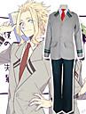 Inspirerad av Cosplay / My Hero Academia / Boku No Hero Midoriya Izuku / Todoroki Shoto Animé Cosplay-kostymer Japanska cosplay Suits Lappverk Långärmad Kappa / Blus / Byxor Till Herr