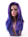 U-formad hätta / Spetsfront Rak Kinesisk Spets Syntetiskt hår Dam / Alla Dam / syntetisk / Sexig Lady Fest / afton / Vardag / Karnival / Lila / Afro-amerikansk peruk