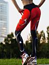 Dam Yoga byxor Ensfärgat Röd Elastan Löpning Fitness Gym träning Cykling Tights Leggings Underdelar Sport Sportkläder Fuktabsorberande Butt Lift Magkontroll Sportflex Hög Elasisitet Skinny / Vinter