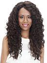 Syntetiska peruker Lockigt Afro Sidodel Peruk Lång Ljusbrun Brun / Bourgogne Syntetiskt hår 18 tum Dam Moderiktig design Dam syntetisk Mörkbrun Ljusbrunt